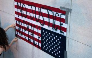 USA Flag - no justice - no peace