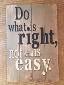 do, what is right
