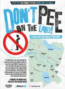 don´t pee on the land - Glastonbury Festival 2015